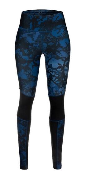 Leggings Reebok Wear Para Dama Dn7473 Color Negro/azul