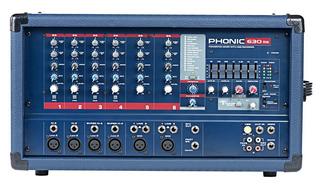 Phonic Mixer Consola Potenciada Bluetooth 300w 6c Power630