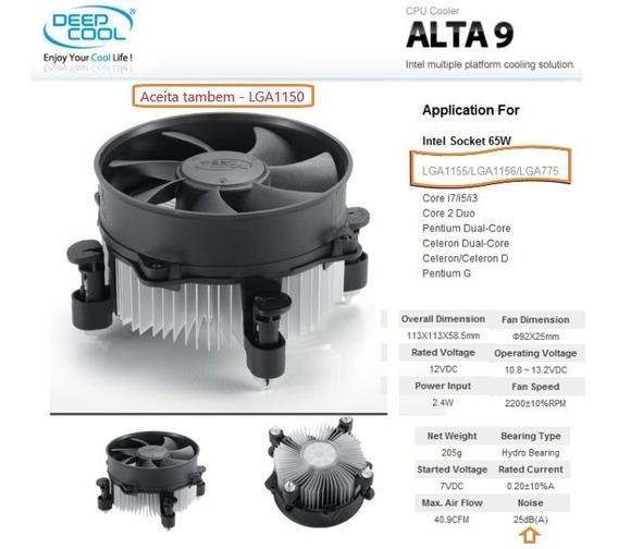 Cooler Box Intel P/ Proc. Socket Lga 1156/1155/1150/lga775