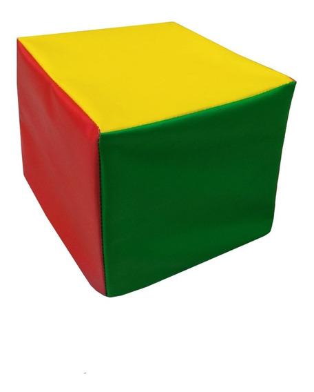 Cubo Módulo De Psicomotricidad Goma Espuma 20x20x20