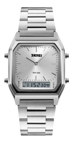 Relógio Skmei 1220 Retro Lançamento Luxo Feminino Masculino Original Top