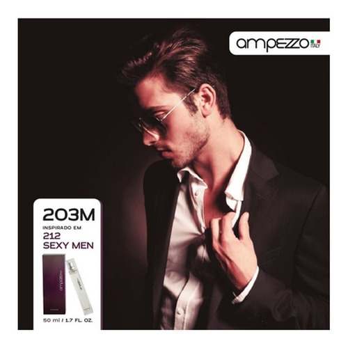 Imagem 1 de 1 de Deo Perfume Ampezzoitaly 203m 50ml Inspirado Em 212 Sexy Men