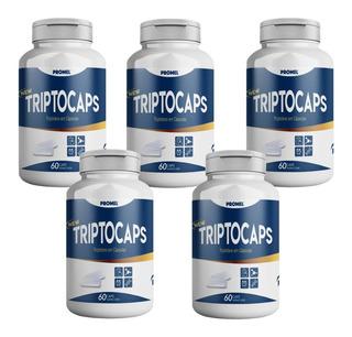 4 Triptocaps Triptofano 60caps 600mg Precursor Da Serotonina