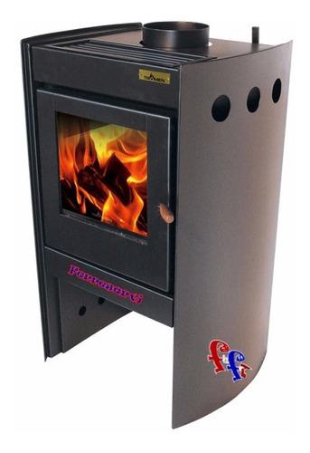 Estufa Calefactor Salamandra A Leña Tromen Chalten 60 A100m2