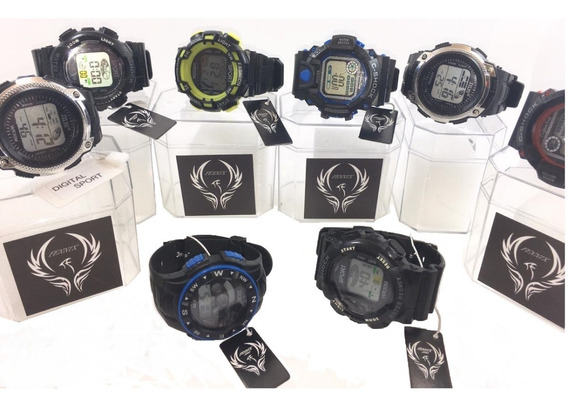 Kit Com 10 Relógios Originais Digitais Masculinos Atacado