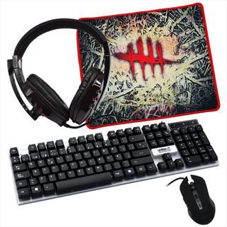 Combo Gamer 4en1 Gm4: Teclado + Mouse + Pad Mouse + Diadema