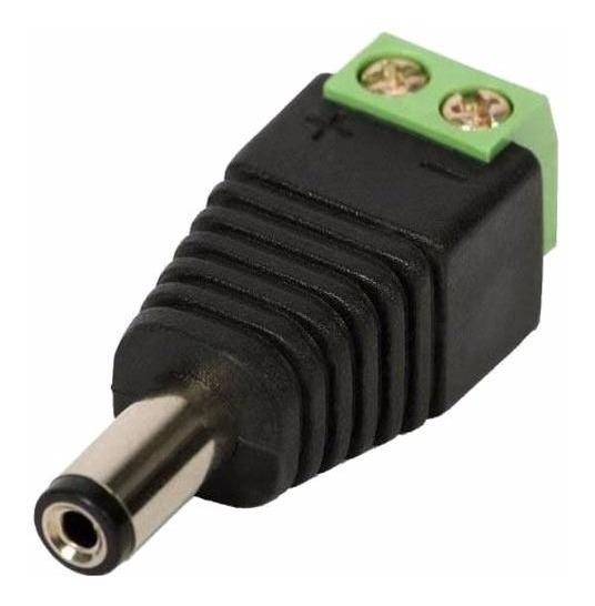 30 Conector Plug P4 Macho Com Borne Para Cameras E Fita Led