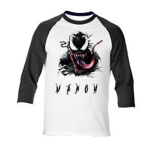 Paquete De Playera Venom Ranglan 3/4 Manga Con Taza