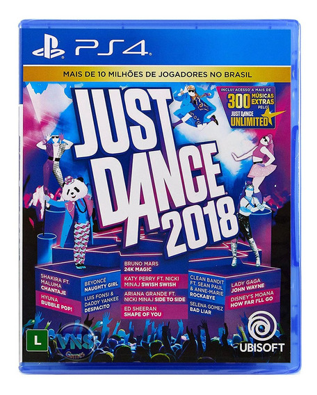 Just Dance 2018 - Ps4 - Novo - Mídia Física - Lacrado
