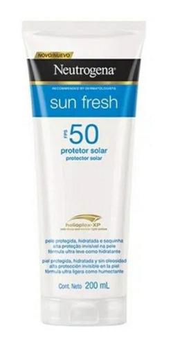 Protetor Solar Neutrogena Sun Fresh Fps50 200ml