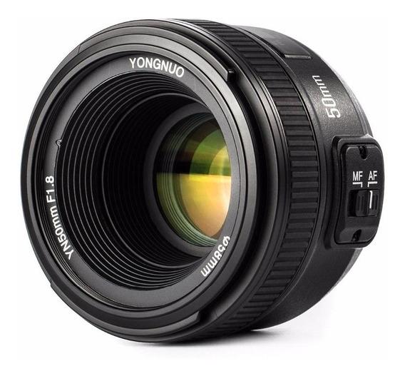 Lente Yongnuo 50mm F1.8 Para Nikon C/ Motor De Foco (af-s)..