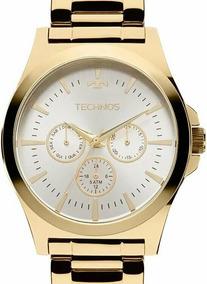Relógio Technos Masculino Dourado Multifunção - 6p29aji/4k