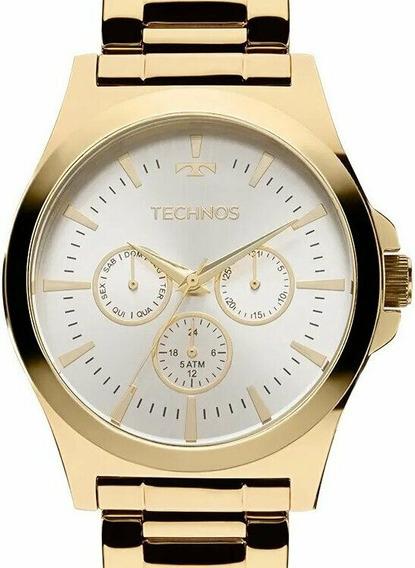 Relógio Technos Masculino Dourado Grande