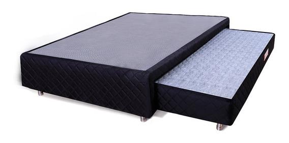 Box Casal 138x188cm + Colchão Auxiliar Espuma D28 Bicama