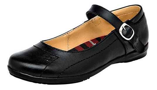 Zapato Piso Correa Piel Negro Mujer Yondeer C93097 Udt