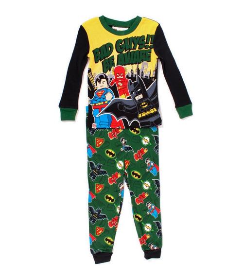 Pijama Lego Para Niño Batman Heroes Bad Guys Verde