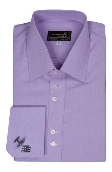 Camisa Abotoadura Punho Duplo Gola Francesa - Ref A 009