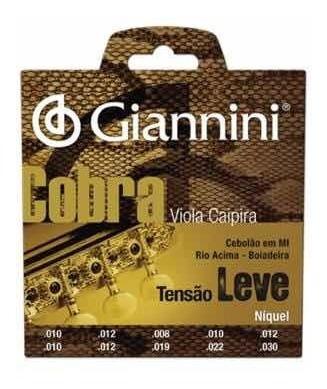 Encordoamento P/ Viola Caipira Leve Niq Gesvnl Giannini