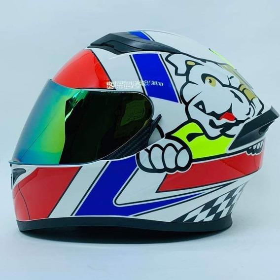 Capacete Valentino Rossi K5 Modelo Novo Dog Promoção