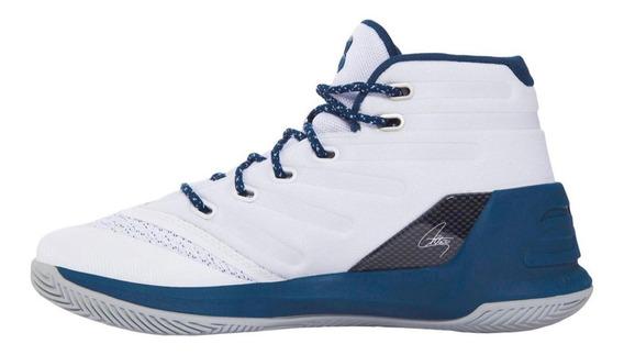 Tenis Curry Originales Bicolor Azul Blanco