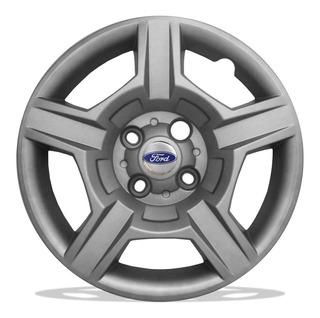 Jogo De Calotas Aro 15 Ford Modelo Ecosport 2012 + Emblema