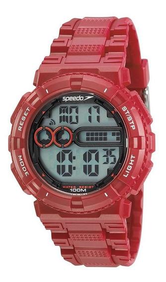 Relógio Speedo Masculino Ref: 80646g0evnp3 Vermelho Digital