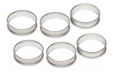 Wrenbury Set De 6 Anillos De Aluminio Anodizado Para Crumpet