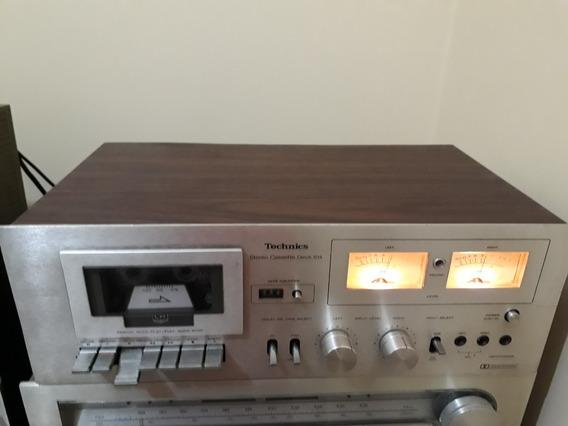 Technics Stereo Cassette Deck 614 Grava Reproduz Muito Bem