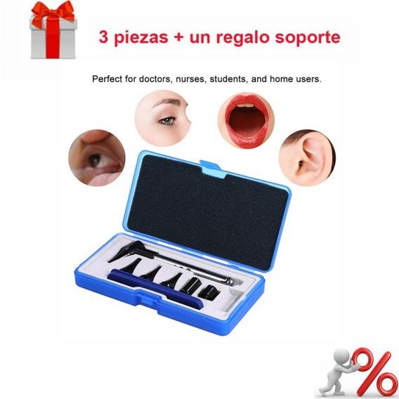 Set De 3*otoscope Oftalmoscopio Para Oídos, Ojos Y Garganta