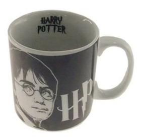 Caneca De Cerâmica Preto E Branco Harry Potter