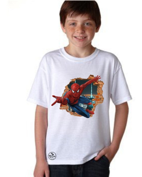 Playera Bien Elegante Avengers Spider Man Para Niño Msi