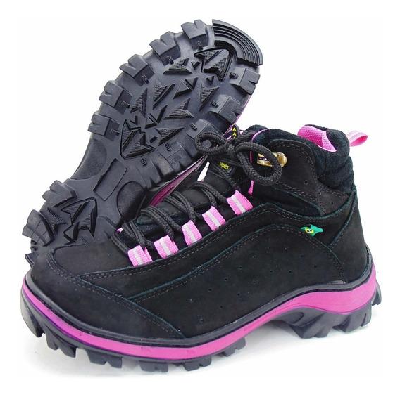 Coturno Casual Adventure Para Trilha Atron Shoes Em Couro