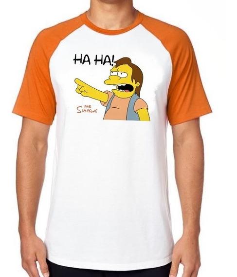 Camiseta Luxo Simpsons Nelson Haha Homer Bart Lisa Amigos