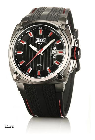 Relógio Pulso Everlast Masculino Aço Preto Silicone E132
