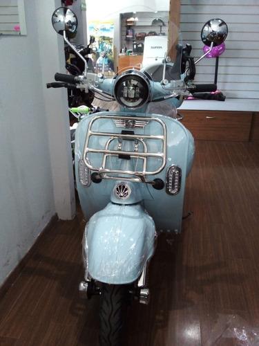 Sunra Vespa Vintage 3000w Bateria Litio Moto Electrica 0km Y