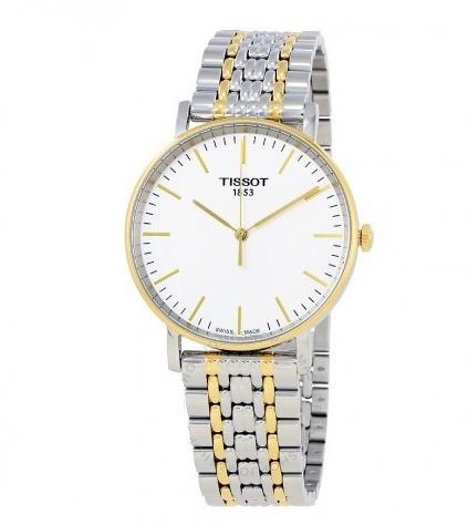 Relógio Tissot Masculino Tclassic Everytime Aço/dourado