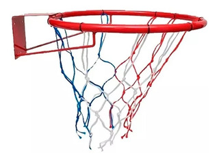 Aro Basket Basquet Con Red Nº7 45cm Hierro Ideal Niños!