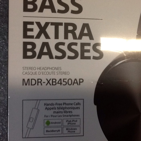 Fone De Ouvido Sony Mdr Xb450ap Bass Original
