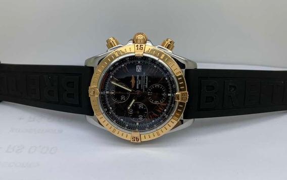Relogio Breilting Chronomat Aço E Ouro Rose