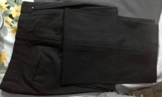 Pantalón De Vestir Hombre Talles 44 Y 46 Negro Y Gris