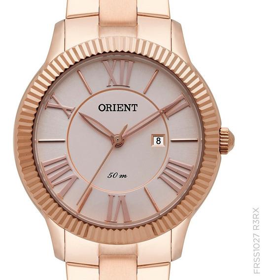 Relógio Orient Feminino Rosê Frss1027 R3rx Original + Nota