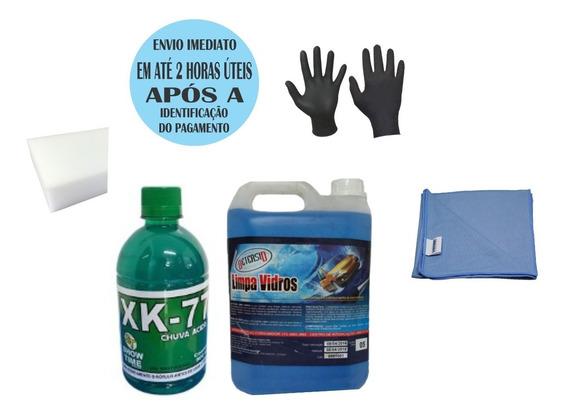 Kit Limpeza De Vidros+removedor De Chuva Acida Xk 77 Brinde