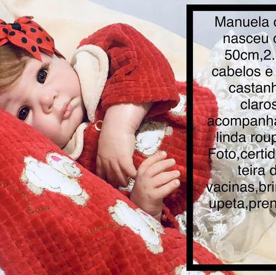 Boneca Reborn Manuela Cod2 (corpo Tecido)