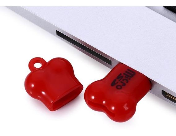 Mini Osso Estilo Micro Leitor De Cartão Sd Para Computador