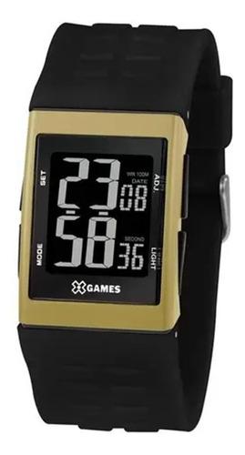 Relógio X-games Masc Digital Xgppd119 Pxpx Quadrado Dourado