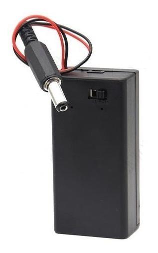 Case Da Bateria 9v + Chave Liga/desliga +conector Arduino J7