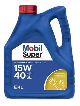 Aceite De Motor Mobil 4 Litros 15w40 Semisintetico Mobil Sup