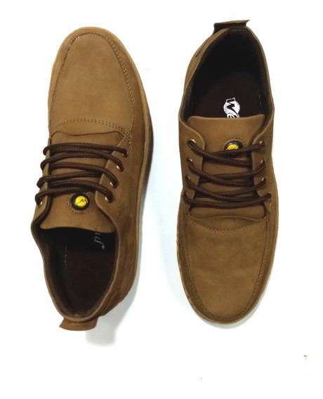 Zapatos Casual En Cuero Hombre