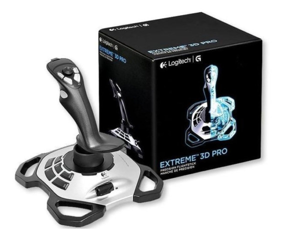 Joystick Logitech Extreme 3d Pro Twist Handle Pc Usb Lacrado Envio Imediato!