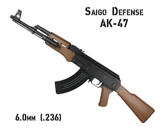 Fuzil Metralhadora Ak Kalashnikov Madeira Rifle Airsoft 6mm